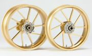 Suzuki Motorcycle Parts Dr-z400sm Aluminum Forged Front-rear Wheels Set Gold F/s