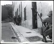 1944 Wwii French Soldier Rifle Grenade 7th Army Marseille Type 1 Original Photo