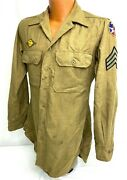 Wwii Us Army Air Forces 7th Air Force Enlisted Patched Dress Shirt