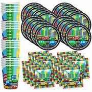 Little Cars Andamp Trucks Birthday Party Supplies Set Plates Napkins Cups Kit For