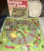 Vintage 1978 The Tortoise And The Hare Marx Toys Racing Board Game Complete 2436