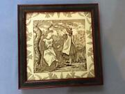 Wedgwood 9 Framed Tile Month Of May By Helen Miles Circa 1880's