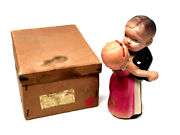 Ck Celluloid Dancing Boy Girl Wind-up, With Box, Vintage,