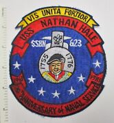 Us Navy Submarine Patch Uss Nathan Hale Ssn-623 20 Years 1983 Vintage Asian Made