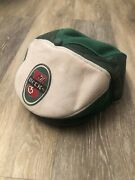Vintage Becks Beer Extremely Rare Newsboy Cap Hat Green And White