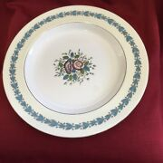 """Wedgewood Fine Bone China Lot 2939 13"""" Blue And Purple Floral Plate"""