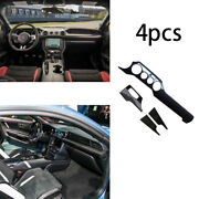 Dry Carbon Fiber Middle Console Dashboard Strip Trim For Ford Mustang 2015-2020