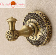 Chinese Brass Antique Style Towel Hook Clothes Wall Hook Hangers Bars