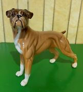 Beswick Dog Boxer Model No. 3081 Gloss Perfect Fawn Brown And White