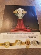 1965 Vintage Ad Print Hamilton Watches. Two Great American Inventions
