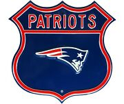 New England Patriots Laser Cut Steel Logo Route Size Authentic Street Signs 17
