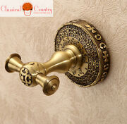 Brass Antique Chinese Towel Pothook Clothes Wall Hook Hangers Bars
