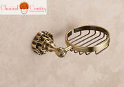 Unleaded Brass Soap Box Dishes Dispensers Chinese Antique Round Bath Rack Hanger
