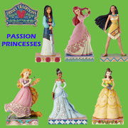 Range Of Disney Traditions Jim Shore Passion Princesses Figurines New And Boxed