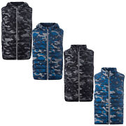 Mens Gilet Rushton S Star Body Warmer Camo Military Padded Quilted Funnel Neck