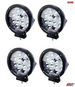 Four 60w Led 7and039and039 Round Pro. Led Work Lights 12v 24v Lamps Lorry Tractor Offroad