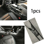 Carbon Fiber Replace Middle Console Drinking Glass Trim For Ford Mustang 2015-20