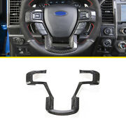 Dry Carbon Fiber Interior Steering Wheel Strip Cover Trim For Ford F-150 2015-20