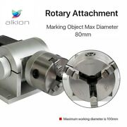 Chuck Rotary Shaft Rotating Device For Fiber Laser Marking Engraver Machine 80mm