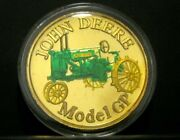 John Deere Gp Tractor .999 Fine Silver Round 1 Troy Oz Colored Collector Coin Jd
