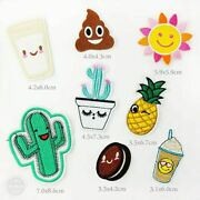 Assorted Iron On Patches Embroidered Badge Applique Clothing Decorative Supplies