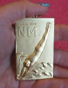 1976 Montreal Finland Olympic Camp In Turku 1975 Golden Bronze Medal /nude Male