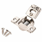 50 Pcs Overlay Cabinet Door Soft Close Hinges Hardware 1/2 Soft-closing Compact