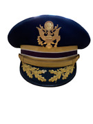 Morry Luxenberg Vintage U.s. Air Force Military Officer General Dress Cap Hat