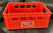 Vintage 1970s The Pop Shoppe Soda Bottle Case Carry Crate Red Plastic
