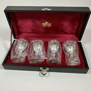 Frontier Hotel Las Vegas 1973 Corbell And Co Silver Cordial Goblets 4 In Case