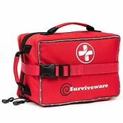 Surviveware Large First Aid Kit Medical 50 Piece Car Camping Safe For Carryin
