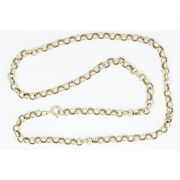9ct Gold 20andrdquo Belcher / Rolo Chain Necklace