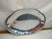 Wilton Armetale Large Pewter Serving Tray Platter Plate Chippendale Turkey Meat