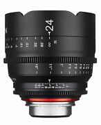 Xeen 24mm T1.5 Wide Angle Pro Cinema Lens Canon Ef