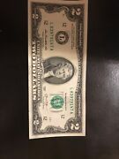 Uncirculated 2 Two Dollar Bill Note Bep Lucky Usd Fancy With Free Clear Case