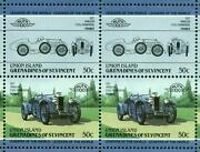 1927 Amilcar Cgss Surbaisse Car 50-stamp Sheet / Auto 100 Leaders Of The World