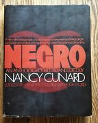 Negro An Anthology By Nancy Cunard 1970 Hardcover First Edition Black History