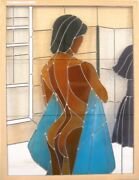 Shower Scene - 30 X 40 Leaded Stained Glass Art Panel - Window / Ceiling Hanging