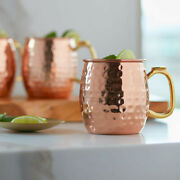 Moscow Mule Copper Mugs Set Of 2,4 Or 6 Hammered Or Diamond Cut Finish