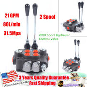 2 Spool Hydraulic Control Valve 21 Gpm Double Acting 80l/min Tractors Loaders Us