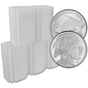 100 Pc 1 Oz. Highland Mint Silver Round 2021 Buffalo .999 Roll 5 Tubes Of 20