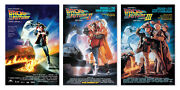 Back To The Future I Ii And Iii - Movie Poster Set Regulars Size 24 X 36