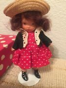 Vintage Nancy Ann Storybook Doll 123 One-two Button My Shoe Pt Bisque Box