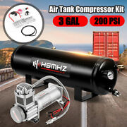 3 Gallon Air Tank 200 Psi Compressor Onboard For Train Truck Boat Horn 12v Dc