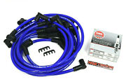 Spark Plug Wires Set And Ngk Vpower Plugs For 79-93 Ford Mustang 5.0l 5.0 V8 Blue