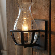 Farmhouse Wall Light Fixture Sconce Vintage Industrial Rustic Glass Wall Lamp