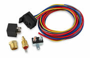 Msd 89616 Temperature-controlled Electric Fan Harness And Relay Kit 195 Deg-30a
