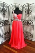 D200 Kasey J W177057 Hot Coral Sz 18 469 Formal Homecoming Prom Gown Dress