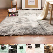Fluffy Faux Sheepskin Shag Rug Silky Mat Accent Rug Non Slip 2and039 X 3and039 Rectangle