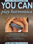 You Can Play Harmonica Beginner Harp Lessons Learn How To Play Music Book Cd